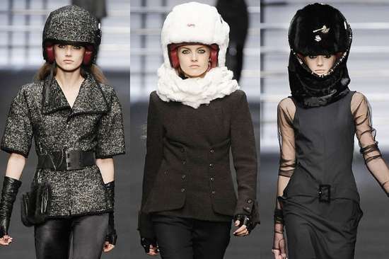 In 2009, Karl Lagerfeld debuted a line of Mink-Covered iPod Helmets created in collaboration with French luxury helmet maker Les Ateliers Ruby.