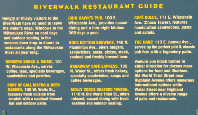 Riverwalk Restaurant Guide