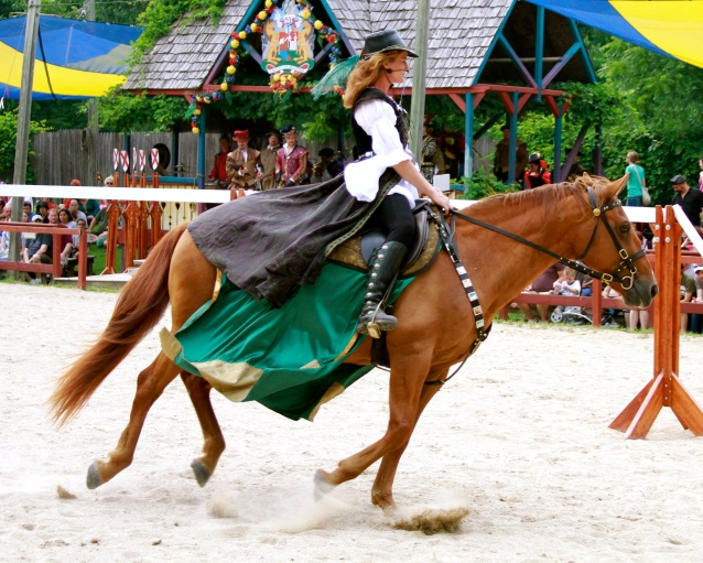 Bristol Renaissance Faire: Horse Fighting
