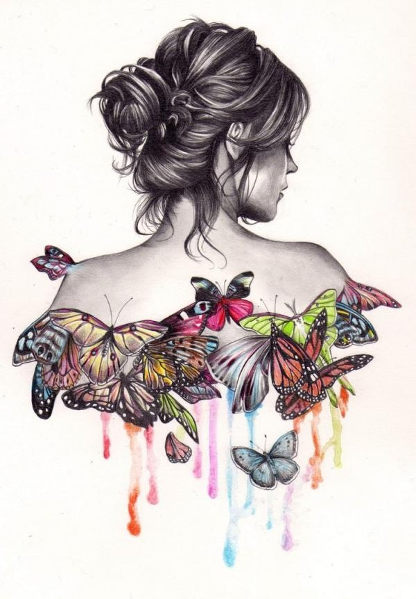 Butterfly Effect Drawing by Kate Louse Powell