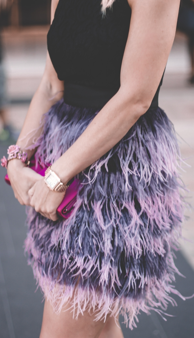feather_purple_skirt_fashion_week_nyfw